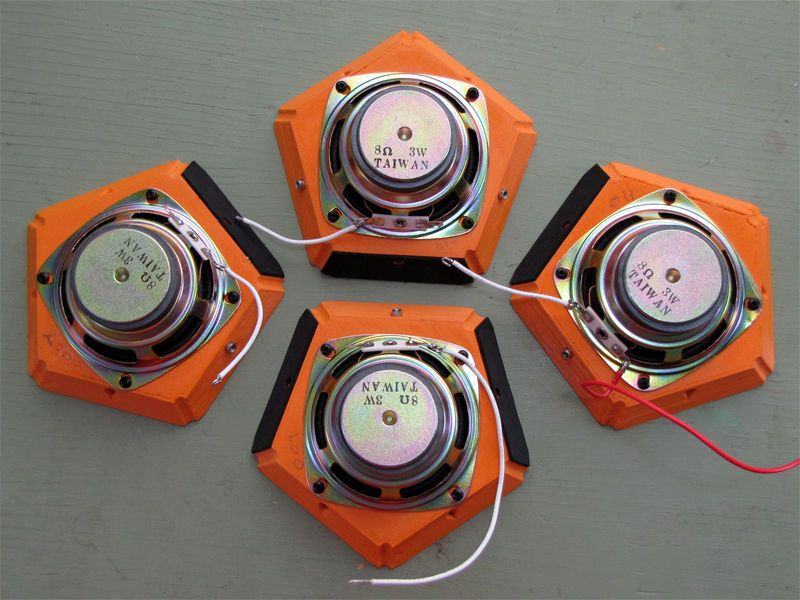 Dodecahedron Speaker for Desktop 3D Printers