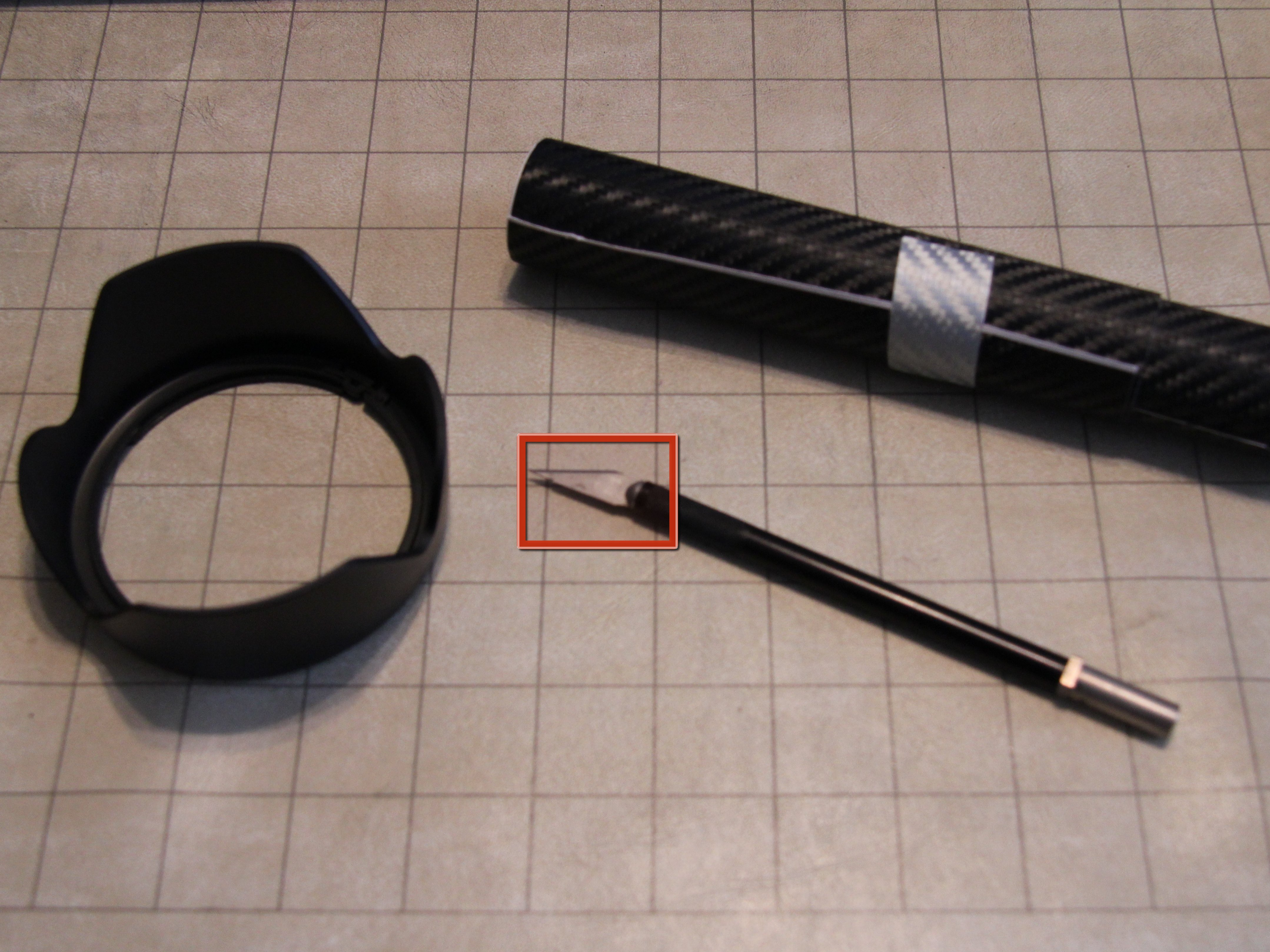DIY Carbon Fiber LensHood