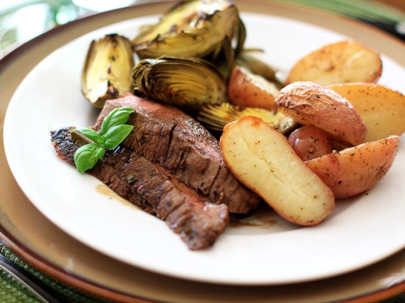 Grilled Balsamic Basil FlankSteak
