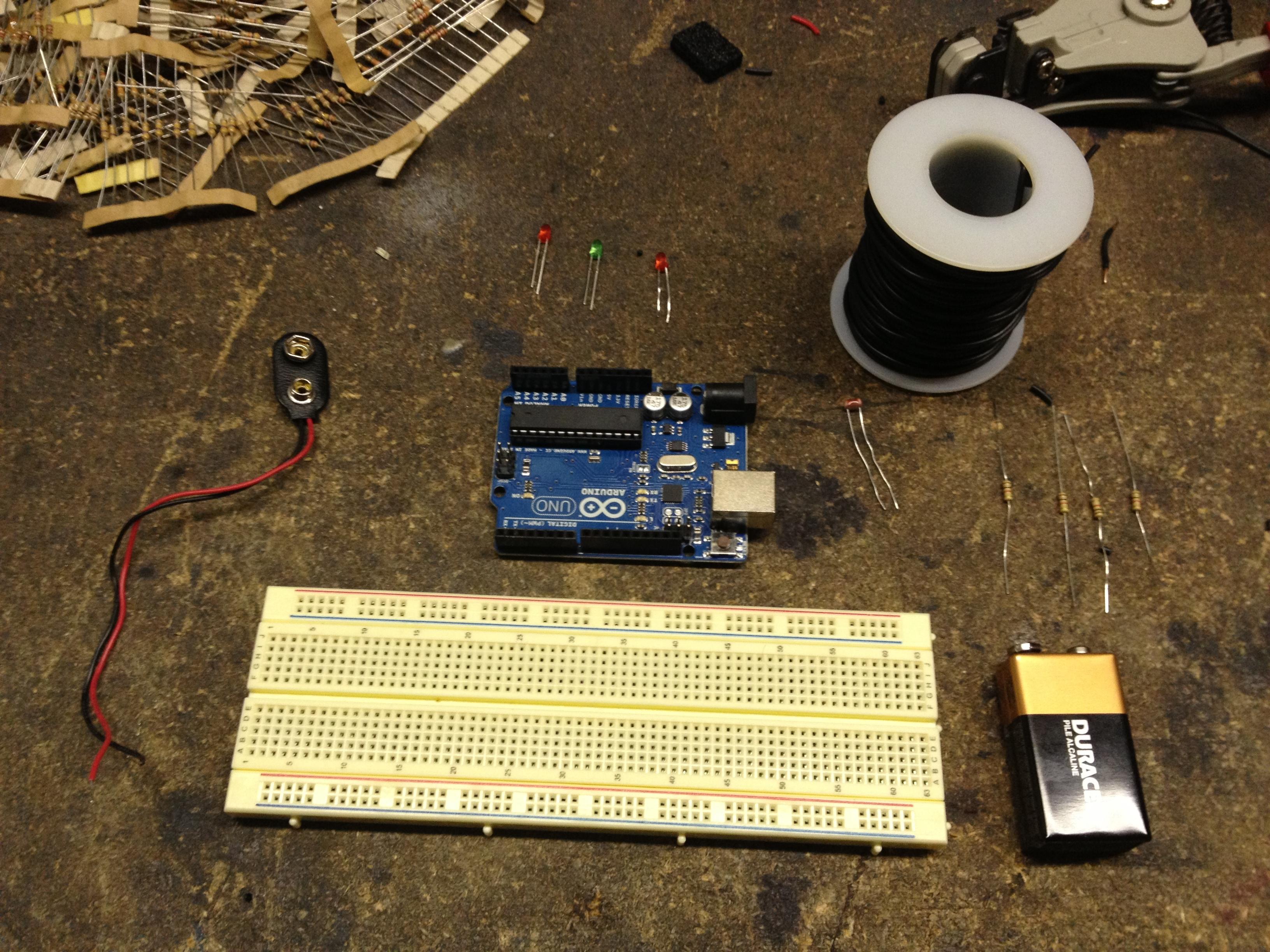 Arduino controlled night light make