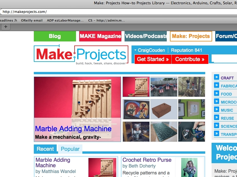 Enter a Project on Make:Projects