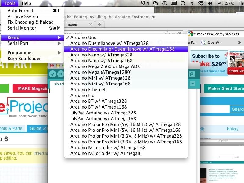 Installing the ArduinoEnvironment