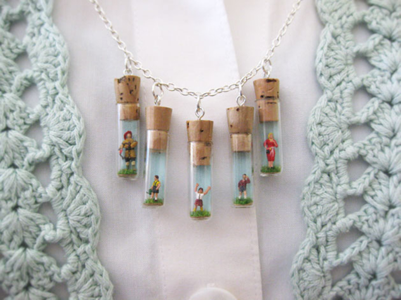 Mini Folk Charm Necklace