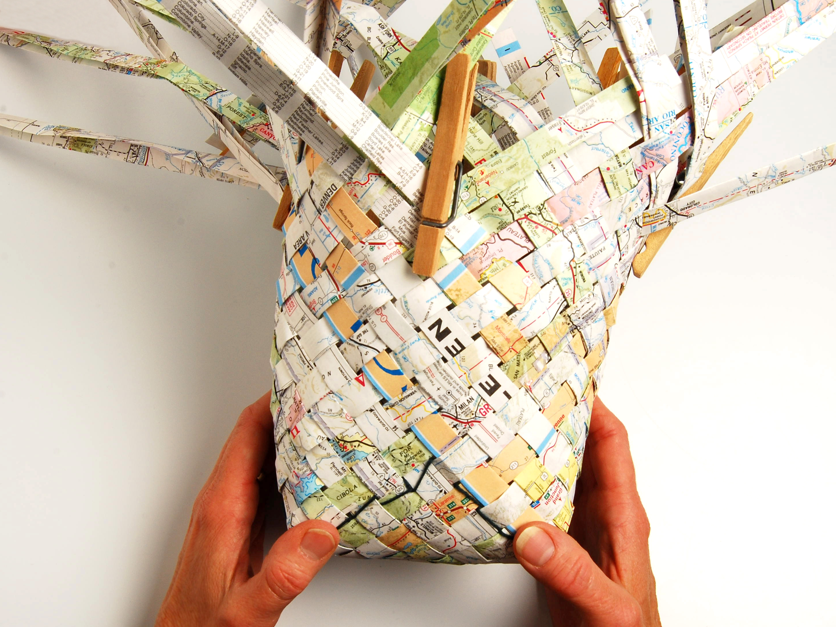 New Project: Woven MapBasket