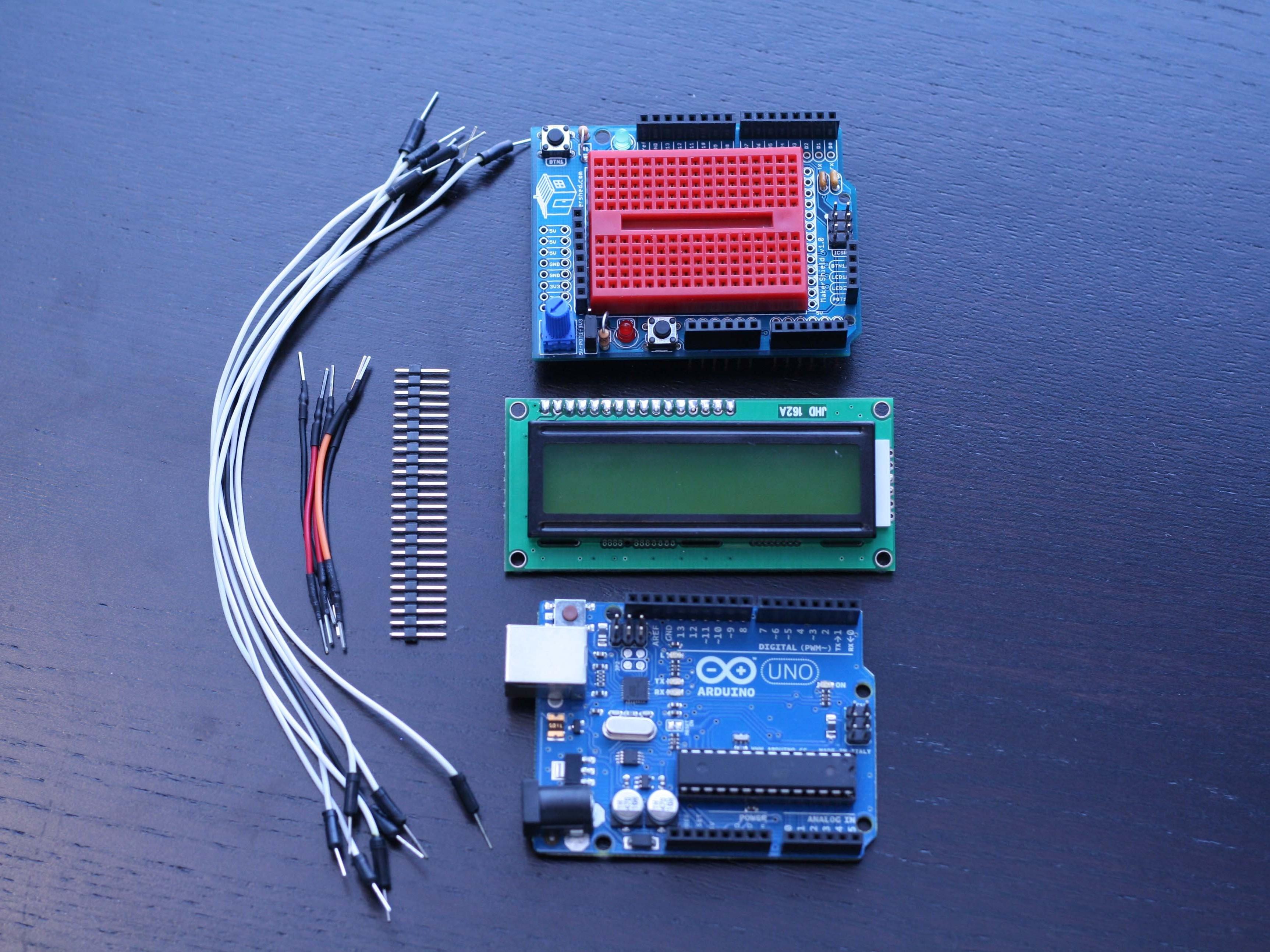 Using the MakerShield – LCDDisplay
