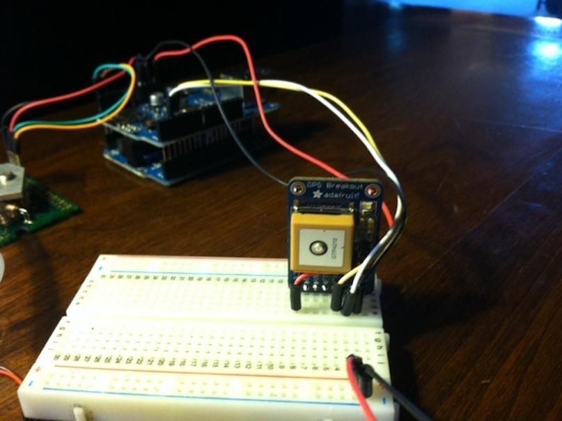 Making a CO2/GPS logger powered by a bikedynamo