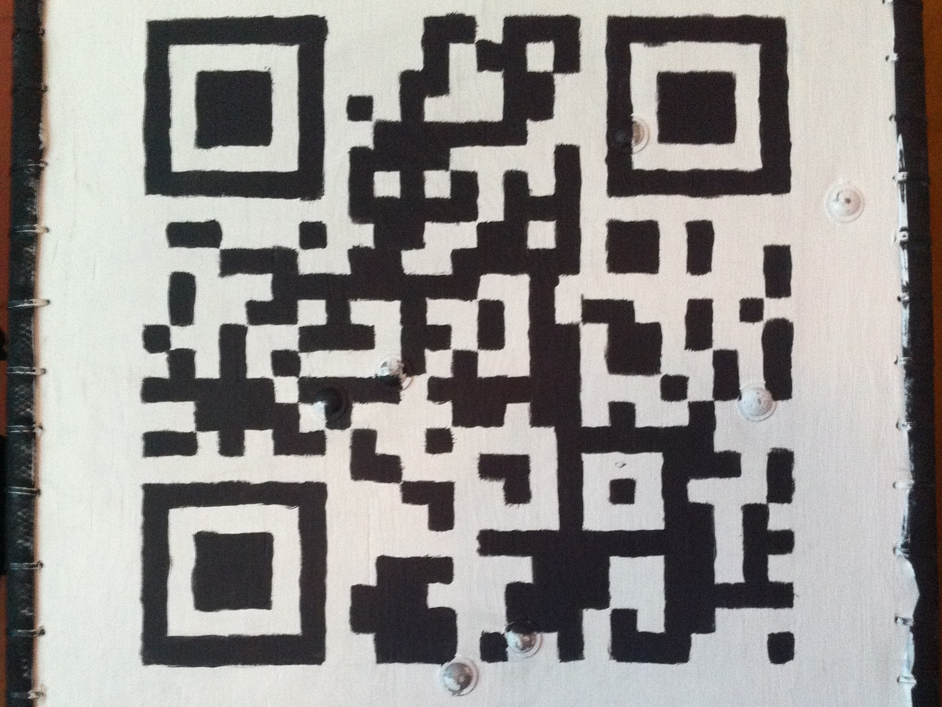 Painting a One-Off QR Code on a Large Surface