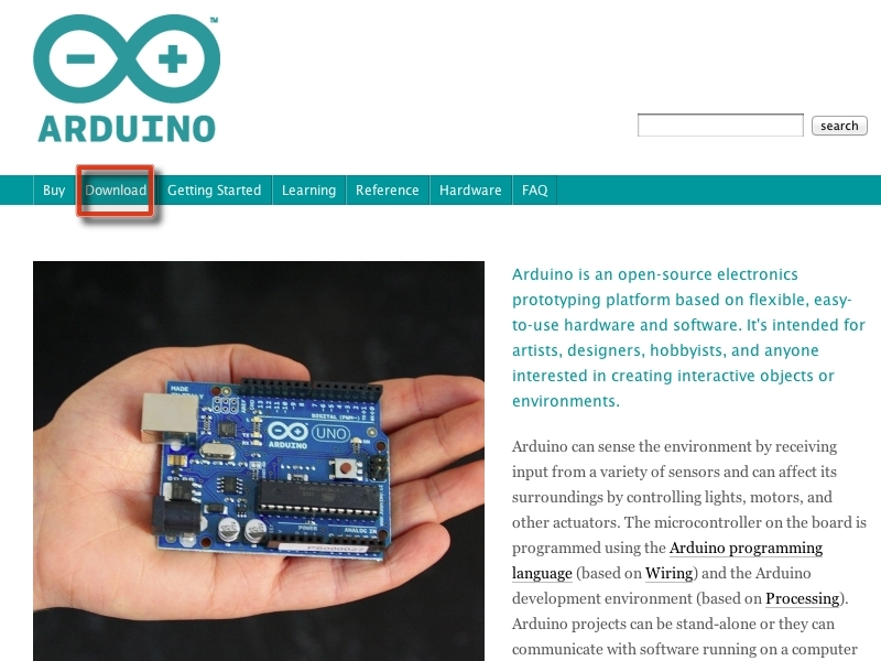 Installing the Arduino Environment