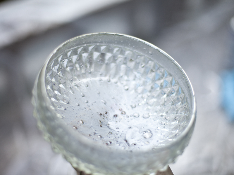 Faux Mercury Glass from RecycledVases