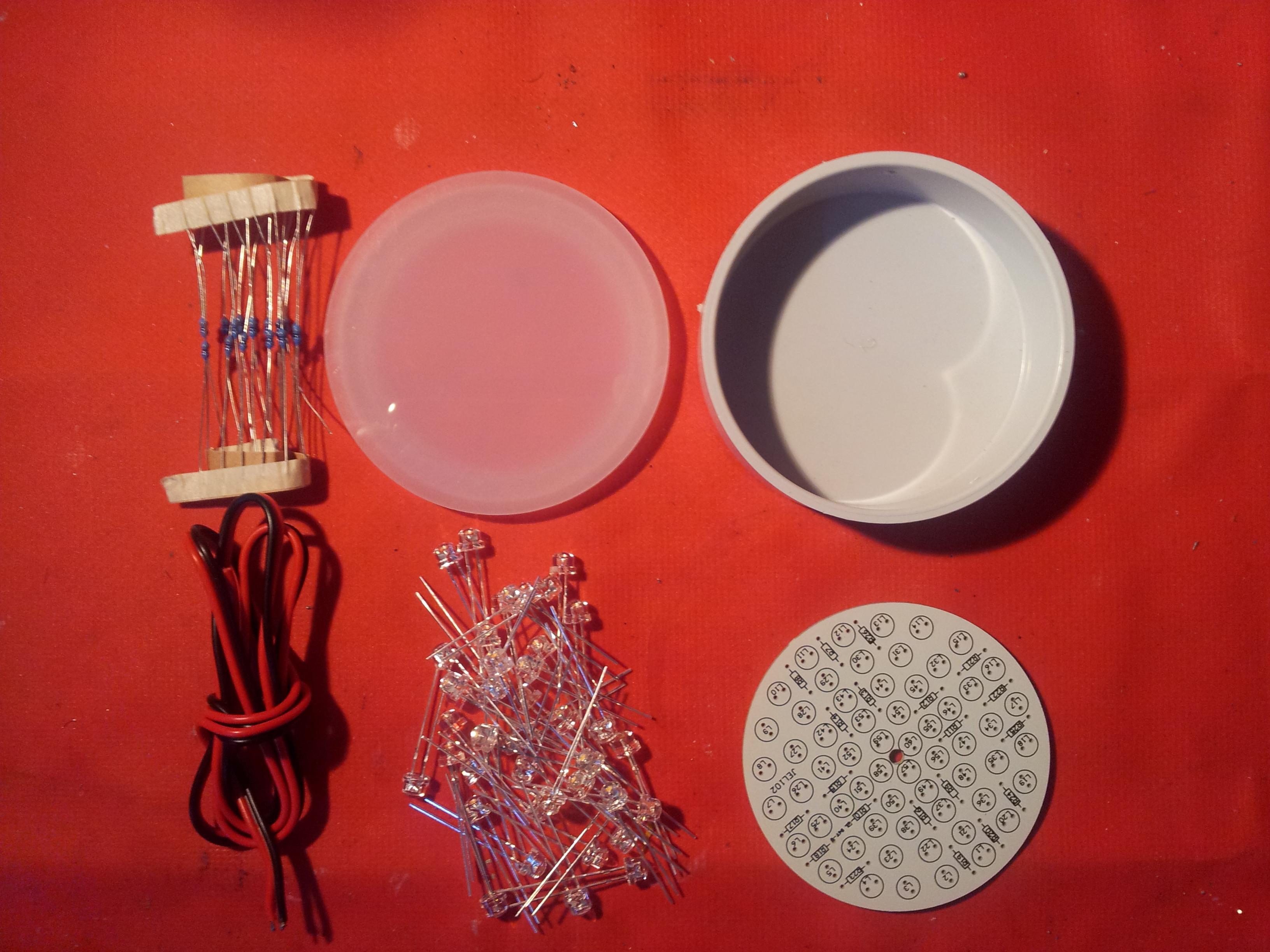 LED Garden/Deck-Light Kit with 60x5mmLEDs