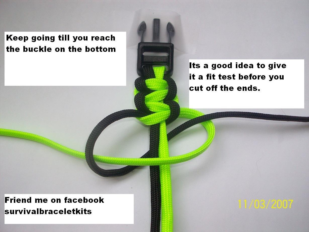 How to make a paracord 550 survivalbracelet