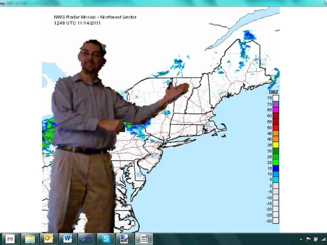 Kinect Hacking: Weather Map