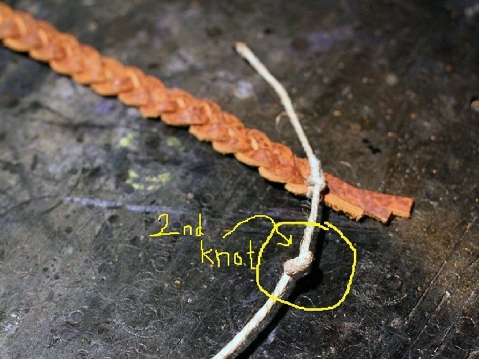 New Project: Braided LeatherBracelet