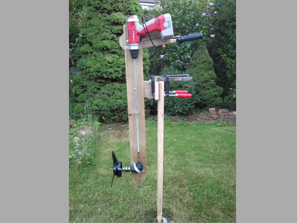New Project: Wooden Outboard Motor Powered by a Cordless Drill