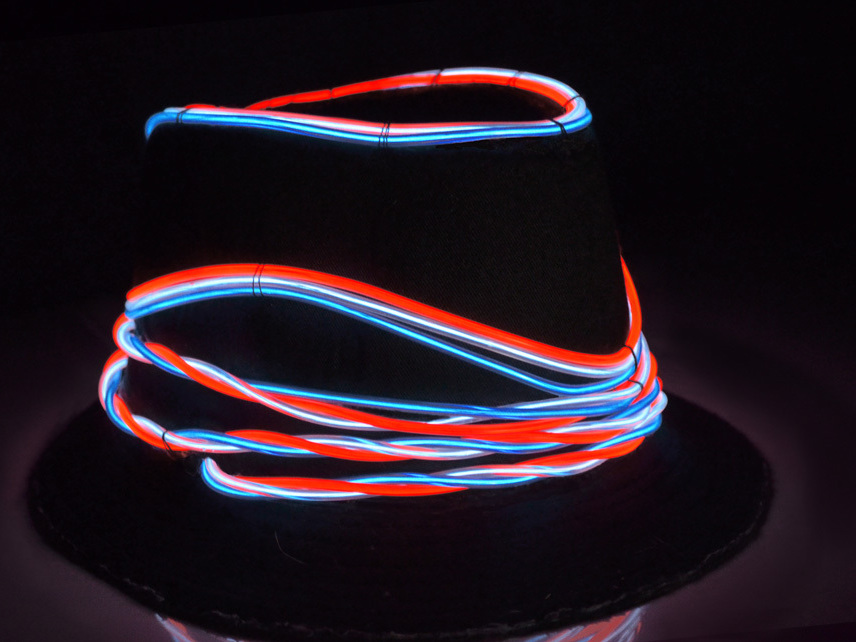 New Project: EZ-EL Wire 4th of July Hat