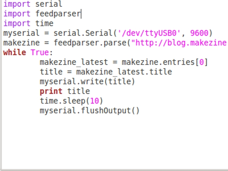 New Project: Arduino and Python: Learn SerialProgramming
