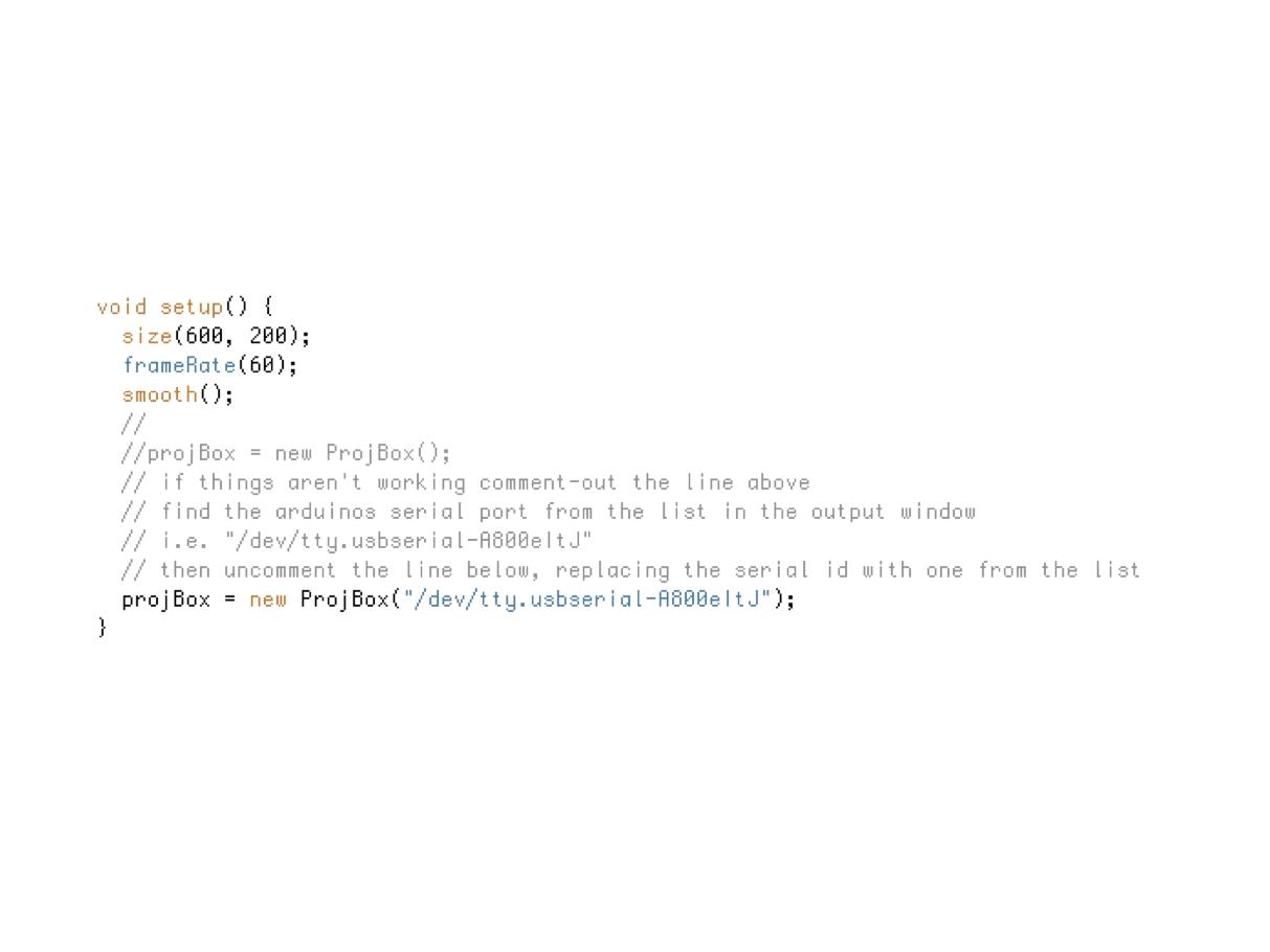 Build a projBoxController