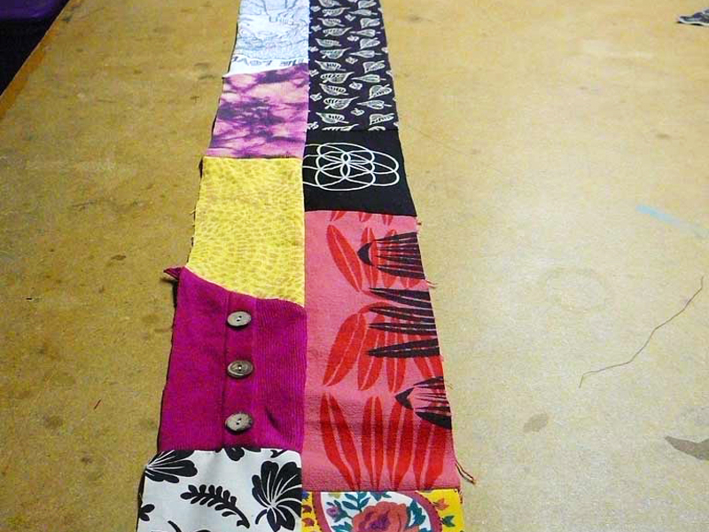New Project: Patchwork Quilt from Clothing Scraps