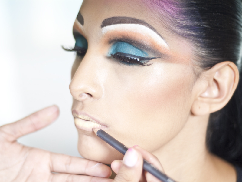 Cage Makeup for BurningMan