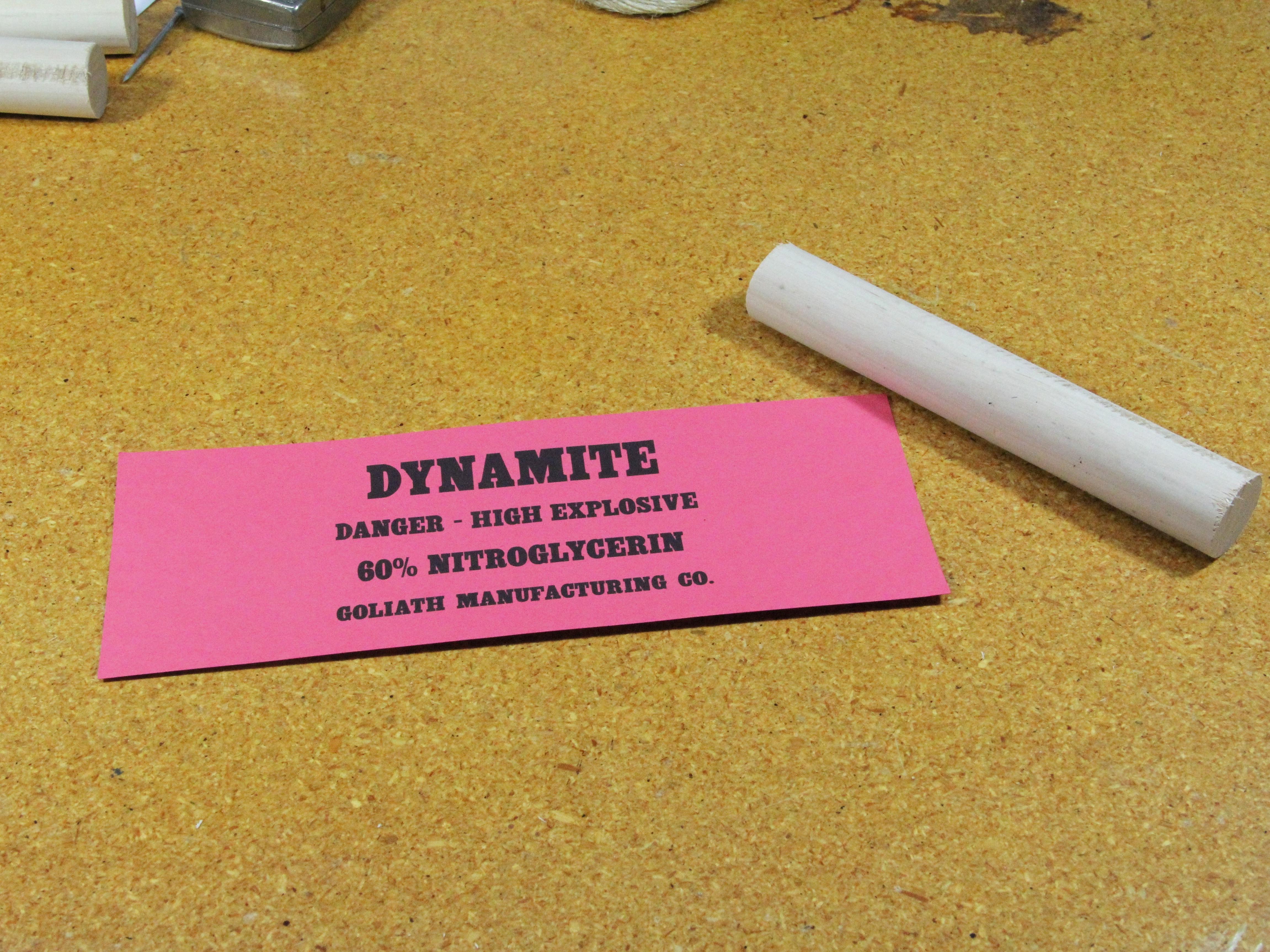 Stage Prop Dynamite