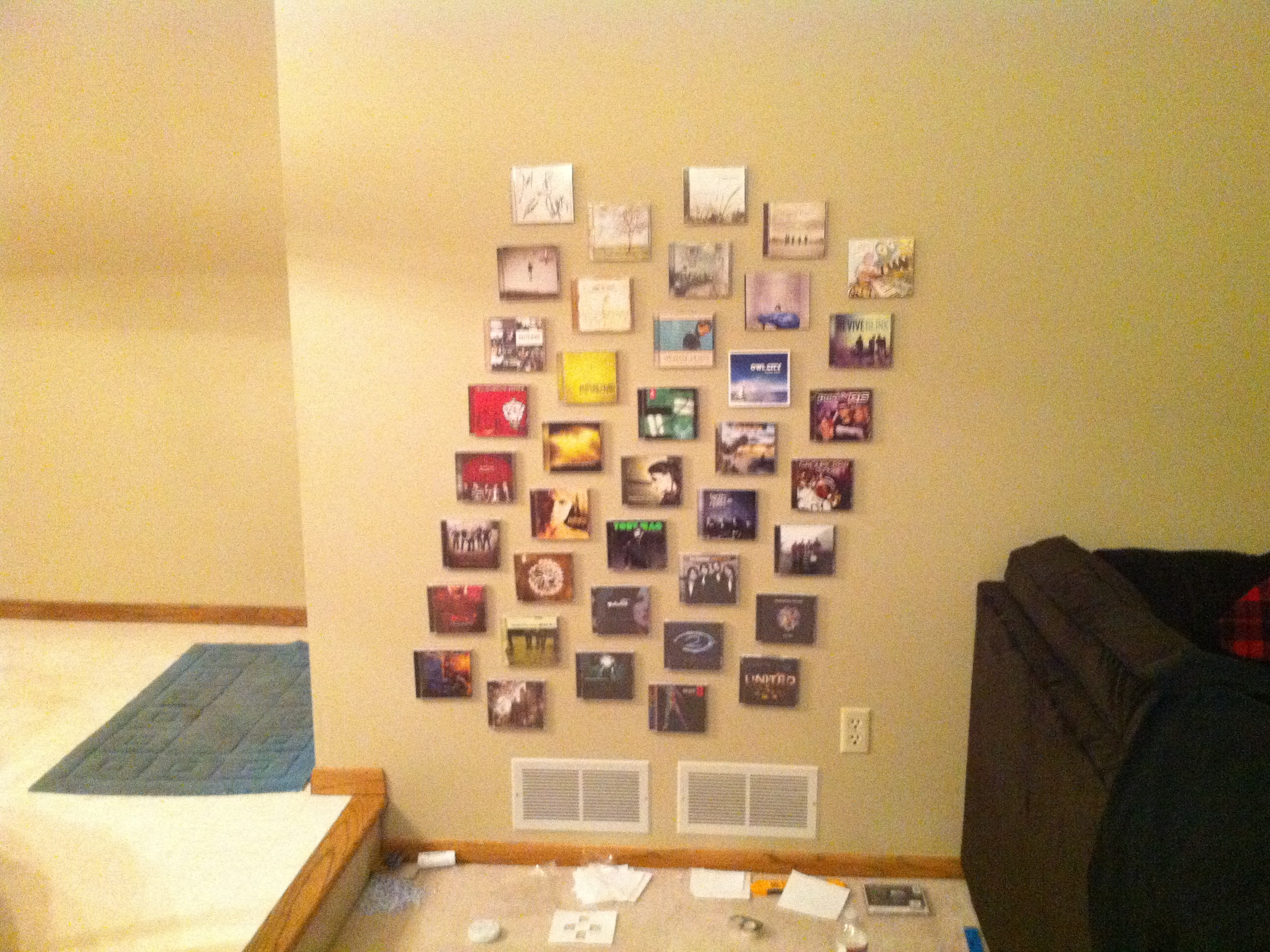 Interactive Wall of CDs