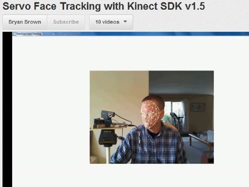 Kinect-based Servo Control