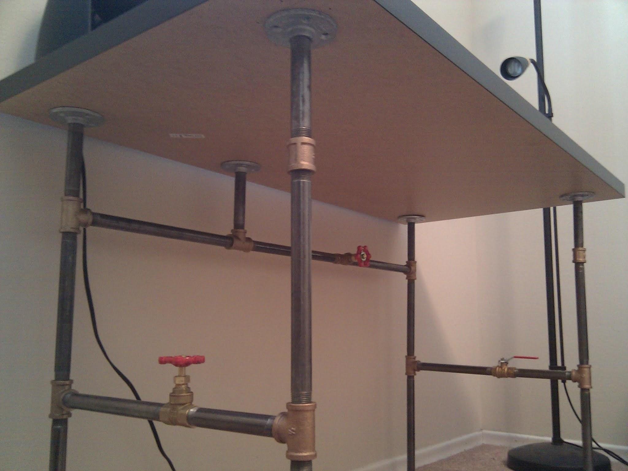 Create Your Own Custom Desk from PlumbingPipe