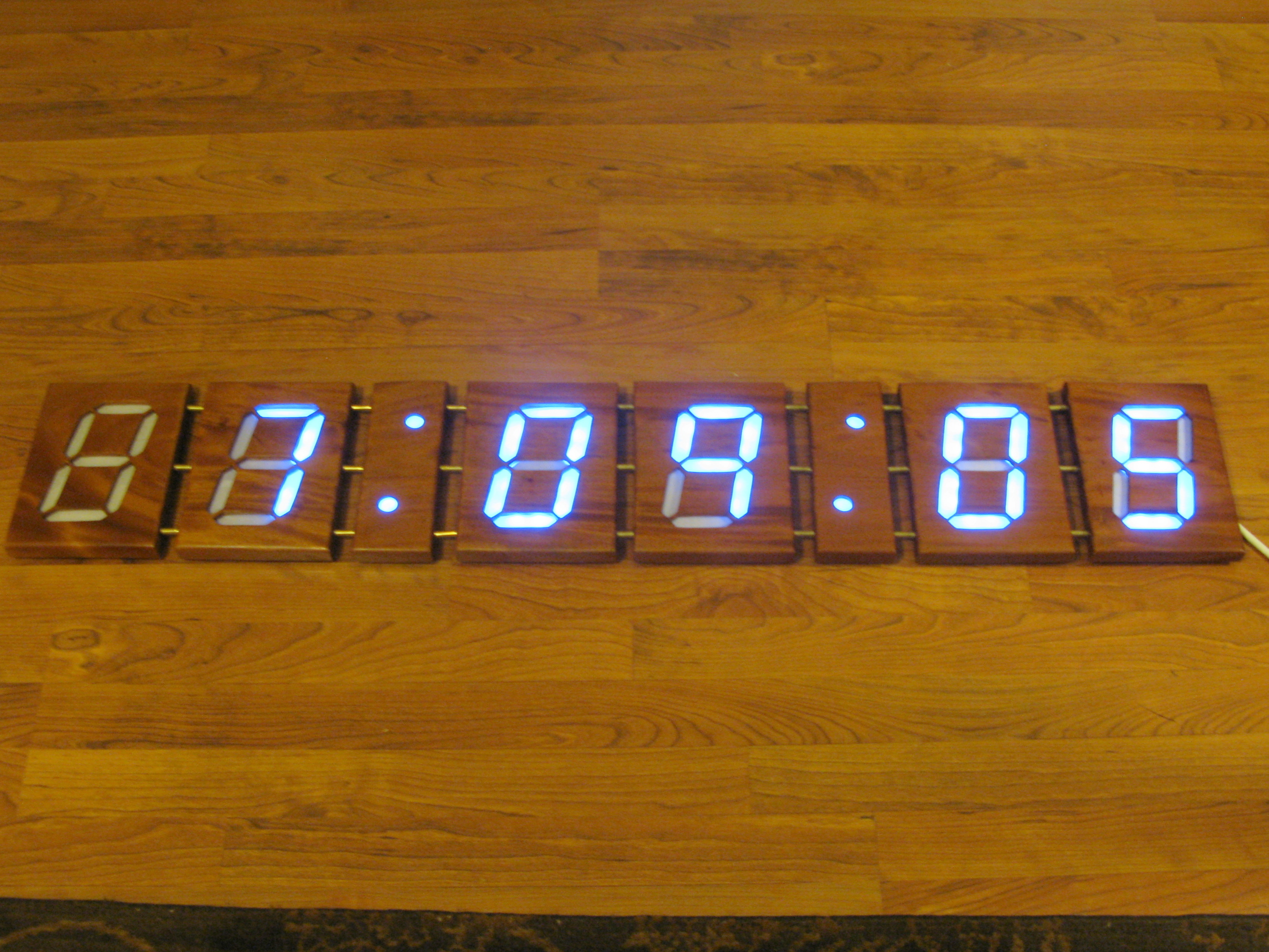 New Project: 4-Foot Wooden Digital Clock