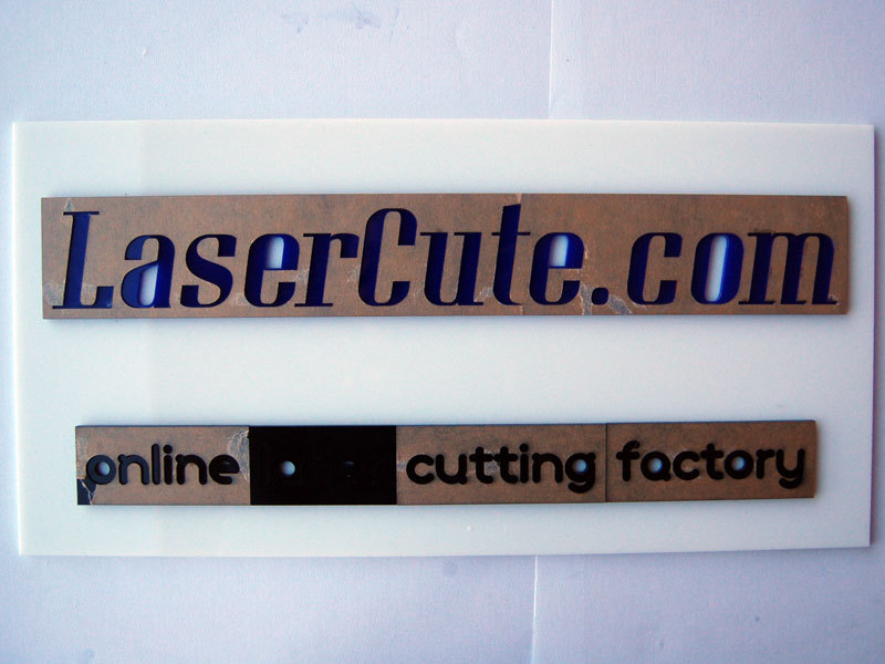 Laser-Cut Sign Designed in YourBrowser