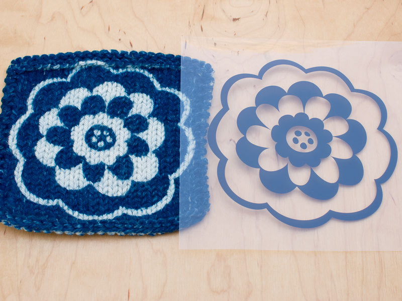 Cyanotype Printing on Hand Knits andCrochet