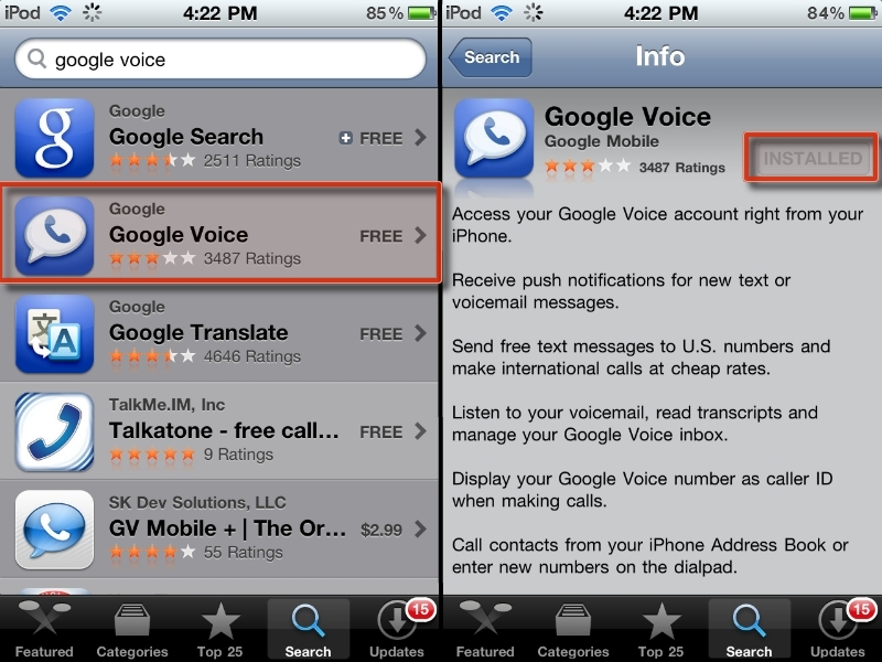 Free Calls from an iPod Touch oriPhone