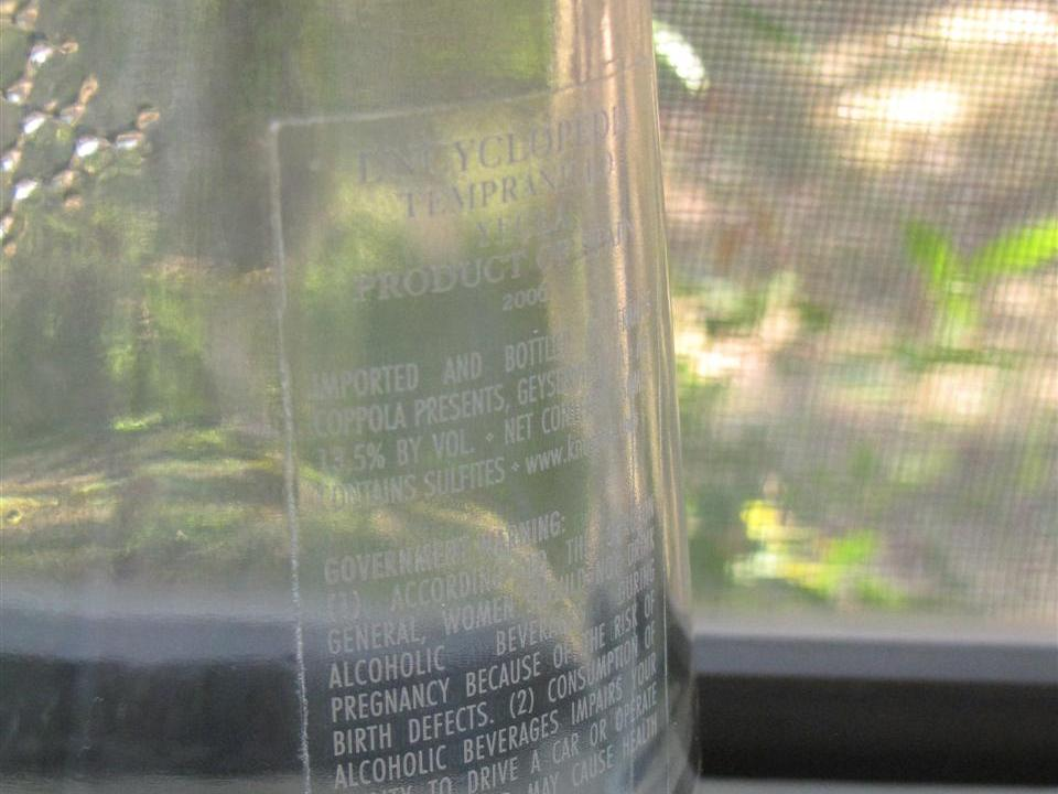Label-Etch a Glass Bottle