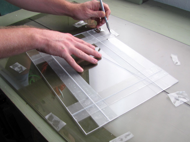 Tape-Hinge Acrylic Box Construction