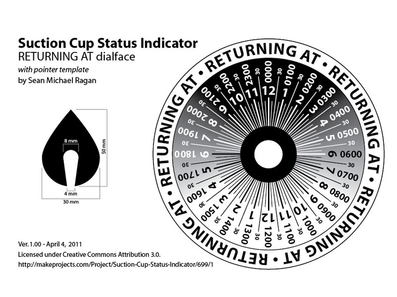 CD/Suction Cup Status Dial
