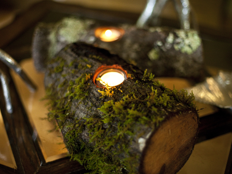 New Project: Rustic Woodland Candleholders