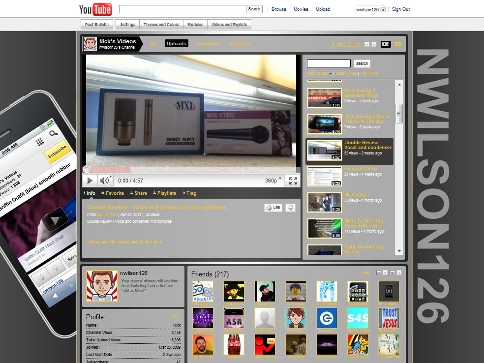 Make a YouTube ChannelBackground