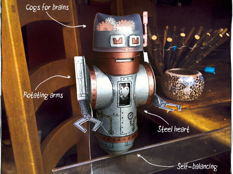 Balancing Robot from RecycledMaterials