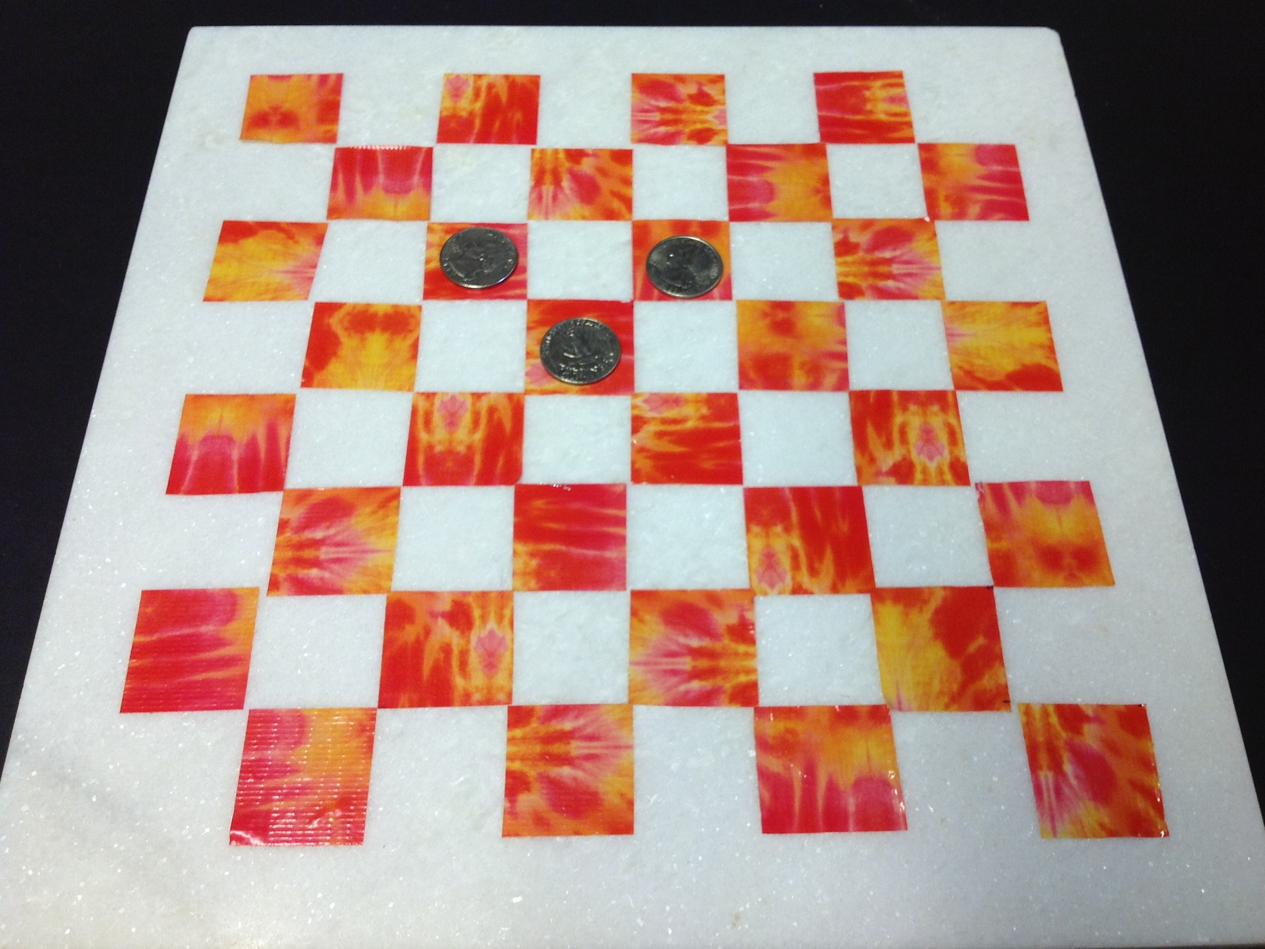 Chess/Checker Board from Tile Remnants