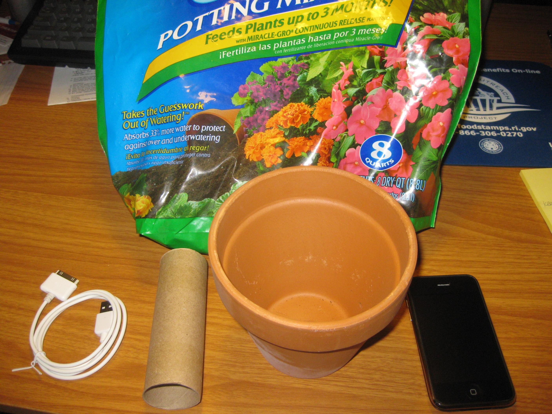 Flower Pot iPhoneCharger