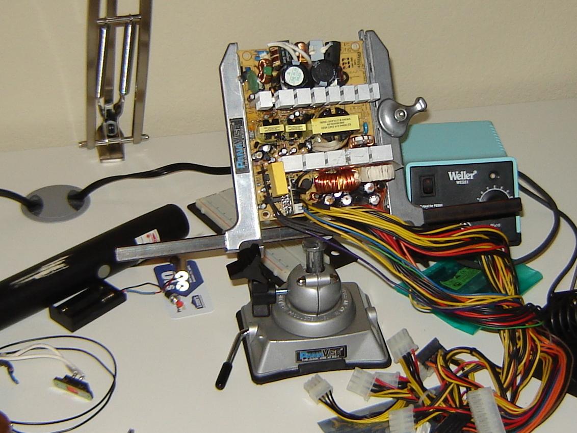 Re-purposed Power Supply FumeExtractor