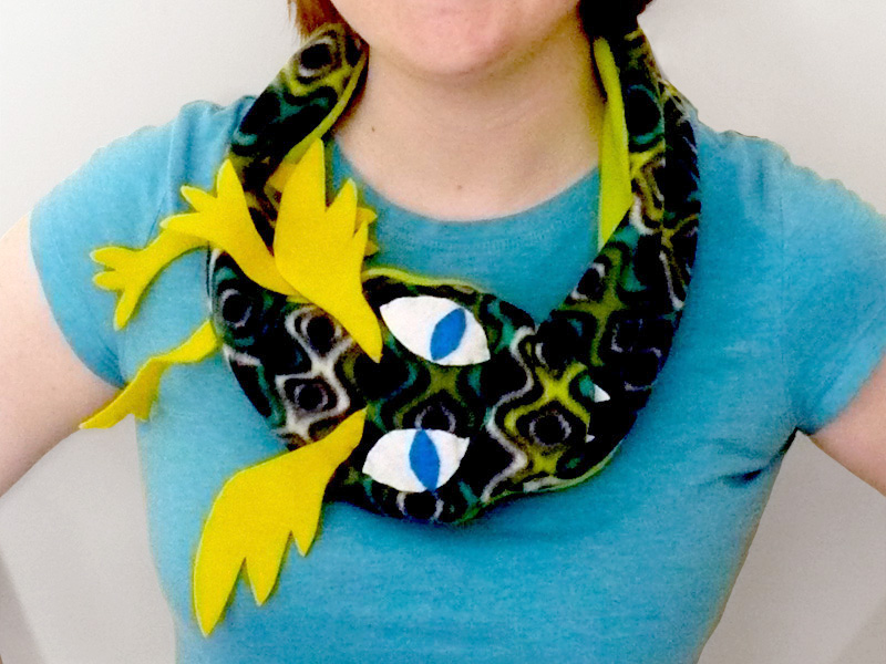 Serpent Scarf with Pocket
