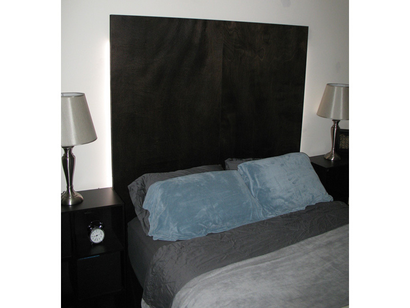 Headboard Made with 2 Doors