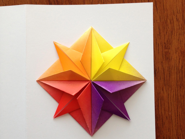 origami star  greeting card  make